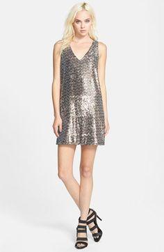 Sam Edelman V-Neck Sequin Dress available at #Nordstrom
