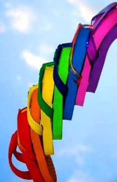 #Rainbow #colors Flip flops ToniK ❖de l'arc-en-ciel❖❶