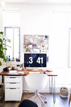 small home office design ideas Office Interior Design, Home Office Decor, Home Decor Bedroom, Office Ideas, Office Furniture, Budget Home Decorating, Decorating Ideas, Pinterest Home, Office Workspace
