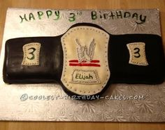Coolest Wrestling Belt Cake... This website is the Pinterest of homemade birthday cakes