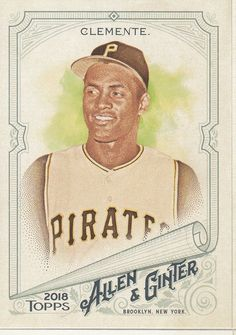 2018 Topps Allen & Ginter Roberto Clemente Pittsburgh Pirates Sports Card No 107 Roberto Clemente, Pittsburgh Sports, Pittsburgh Pirates, Puerto Rico, Baseball Cards For Sale, Trading Cards, Photos, Collector Cards
