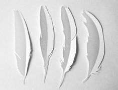 Handcut feathers #diy #crafts #paper #feathers
