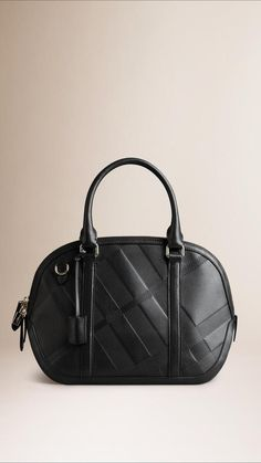 On Sale-Burberry The Small Orchard In Embossed Check Leather