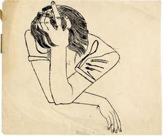 warhol's pensive girl