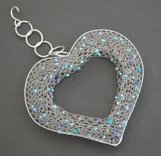 Silver Wire Heart
