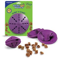 Another great puzzle toy to give your dog mental stimulation!  I like to fill it with my dogs' kibble, and then they nose it and paw it around to get the food out.  Premier has a great line of more puzzle toys as well.