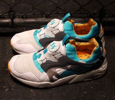Puma Disc Blaze OG – White / Teal – Orange (Summer 2014)