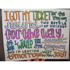 Cups Lyric Drawing ($7) ❤ liked on Polyvore