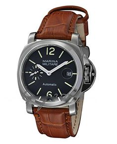 40mm Fanmis Black Dial Ii GMT Automatic Brown Leather Str...