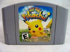 "NINTENDO ""HEY YOU PIKACHUI "" GAME NINTENDO 64 #n64 #nintendo #pikachui #pokemon"