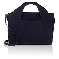 The Row Women's Two For One 12 Shoulder Bag & Pouch (21 820 SEK) ❤ liked on Polyvore featuring bags, handbags, shoulder bags, navy, blue purse, navy shoulder bag, flat pouch, snap closure purse and shoulder strap bags