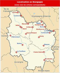Commanderies templières en Bourgogne, France