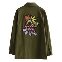 SHARE & Get it FREE | Flower Embroidered Button Up Utility JacketFor Fashion Lovers only:80,000+ Items • FREE SHIPPING Join Twinkledeals: Get YOUR $50 NOW!