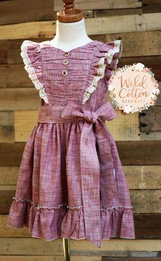 Las niñas hecho a mano vestido vestido de verano vestido de