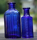 Old cobalt blue glass tough to find. Old Glass Bottles, Antique Bottles, Vintage Bottles, Bottles And Jars, Vintage Glassware, Antique Glass, Vintage Perfume, Mason Jars, Perfume Bottles