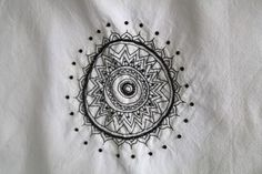 totebag embrodery black and white boho ink tatoo india indian style bohemian
