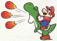 Yoshi shoots fire