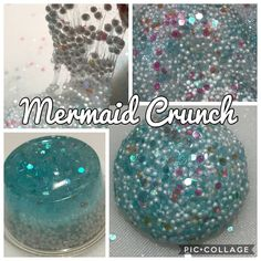 Mermaid Crunch | Micro Floam Crunchy Slime | Clear Slime base with Turquoise Fine Glitters and Pink and Blue Confetti | Ocean Breeze Scented by TheSliimeShoppe on Etsy https://www.etsy.com/ca/listing/591114155/mermaid-crunch-micro-floam-crunchy-slime