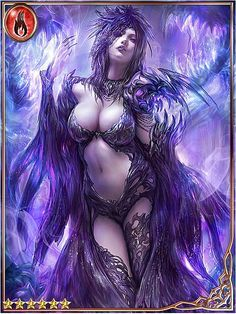Fire Card,Demon mistress and temptress of fertility, can take one character out of play,holders choice.