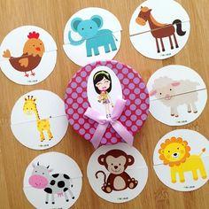 """""""Pia Polya İki Parçalı Hayvan Görsellerini Tamamlama Kartları"""" 18 ay ve 28 ay yaş arası çocuklar için uygundur."""