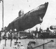 U-1406 being transported to the US after the war.