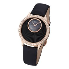 Stuhrling Ladies' Radiant Swiss Quartz Watch In Black - Beyond the Rack