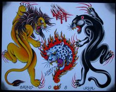 All information about Traditional Lion Flash. Pictures of Traditional Lion Flash and many more. Tribal Lion Tattoo, Lion Head Tattoos, Lion Tattoo Design, Flame Tattoos, Tiger Tattoo, Traditional Panther Tattoo, Traditional Tattoo Old School, Traditional Tattoo Flash, Dragon Tattoo Back Piece