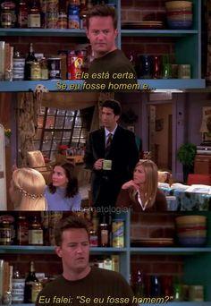 Hahahahah o Chandler Friends Tv Show, Friends 1994, Friends Scenes, I Love My Friends, Best Friends, Mothers Friend, Friend 2, Gilmore Girls, How Met Your Mother
