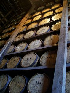 Woodford Reserve bourbon aging in Woodford's Rack house, Kentucky