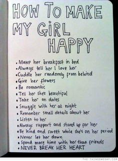 How to make a girl happy Dating stuff.... My Big Day Events, Colorado Parties, Weddings, Celebrations & More http://www.mybigdaycompany.com/ #MuslimWedding, www.PerfectMuslimWedding.com