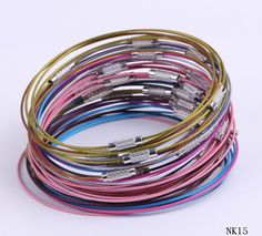 $1.11  9 Inches Multi-Color Tiger Tail Bracelets Wire Thread Chain Jewelry Making