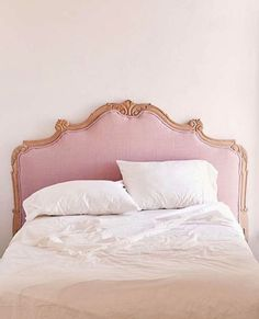 Pink headboard, change the color to a neutral Girls Headboard, Modern Headboard, Headboards, Jillian Harris, Modern Princess, Princess Aesthetic, Neutral Bedrooms, Trendy Bedroom, Style At Home
