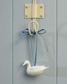Porcelain hanging duck