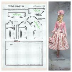 Best 12 Fashion Dolls Couture – Unlimited: Red goes with everything – Made to Move Barbie – SkillOfKing. Sewing Barbie Clothes, Barbie Sewing Patterns, Doll Dress Patterns, Sewing Dolls, Girl Doll Clothes, Clothing Patterns, Pattern Sewing, Pattern Drafting, Dress Sewing