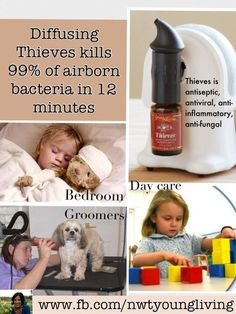 The Power of Diffusing Young Living ~  Research indicates that when essential oils are diffused, they can increase atmospheric oxygen & provide negative ions, which in turn inhibits bacterial growth. Because of their ionizing action, essential oils have the ability to break down potentially harmful chemicals and render them nontoxic. Diffusing Thieves kills airborne bacteria, viruses, fungus & mold. www.youngliving.org/elvielook #youngliving #essentialoils