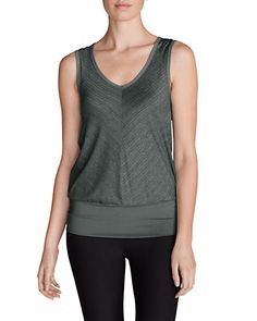 Women's Infinity V-Neck Tank Top in Charcoal