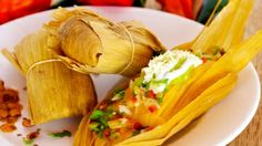 Tamales boiled to perfection and covered in a fried maize shell in Belize.
