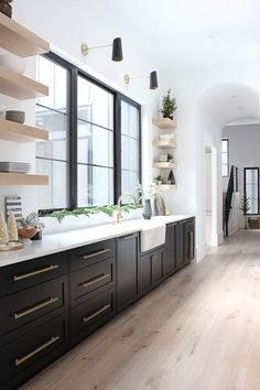The House of Silver Lining: The Forest Modern Christmas Home Tour: The Kitchen # . # EsszimmerSchränke The House of Silver Lining: The Forest Modern Christmas Home Tour: The Kitchen # . - Neue Deko-I Home Decor Kitchen, Interior Design Kitchen, New Kitchen, Kitchen Modern, Kitchen Furniture, Modern Kitchens, Kitchen Hacks, One Wall Kitchen, Modern Interior