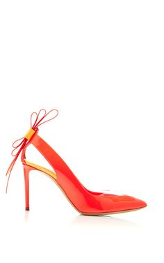 Origami Bow Pump In Fluro Pink by Nicholas Kirkwood for Preorder on Moda Operandi