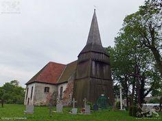 Koniewo. Kościół pw. Matki Boskiej Częstochowskiej. Stan z 2 czerwca 2015 roku