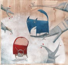 Le petit Chaperon Rouge - Little Red Riding Hood - Susanna Rumiz Children's Book Illustration, Graphic Design Illustration, Food Illustrations, Charles Perrault, Serpentina, Art Manga, Red Hood, Aboriginal Art, Funny Wallpapers