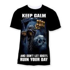 KEEP CALM - Sublimation T-Shirt - We Love Skull