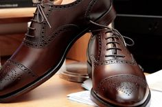 Crockett and Jones leather dress shoes #alifewellsuited #menswear