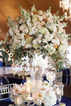 Featured Photographer: Greer Gattuso; wedding reception centerpiece
