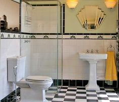 Art Deco Bathroom Design                                                                                                                                                                                 More