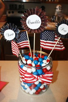 Fourth of July centerpieces
