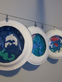 Ocean theme party activity - could adapt for decorations