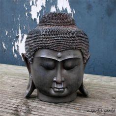 NEW Large Thai Buddha Head Garden Ornament Feng Shui Meditation Sculpture Statue