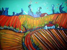 Farmland #2   Acrylic   Joseph Chubb