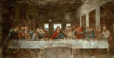 The Last Supper - Before Restoration, 1498 Leonardo da Vinci Painting Reproductions